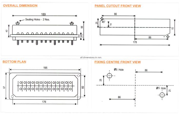 manufacturer of 3 phase 4 wire test terminal block mumbai, india Terminal Block Panels Wiring-Diagram